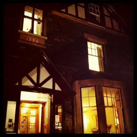 Denehurst Guest House: outside at night.