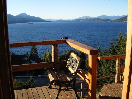 Apart Hotel Cabanas Balcon al Lago: Vista desde la Cabaña 4