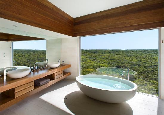 Southern Ocean Lodge: Osprey Pavilion Bath