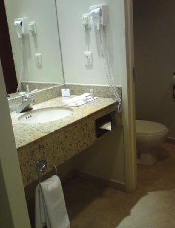 Holiday Inn Express Puebla: Espejo y Lavamanos de Baño