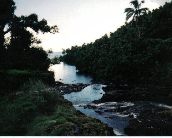ซามัว: Samoan Coast at Dusk Upolu Island,Samoa