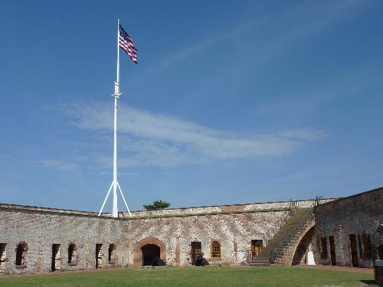 Fort Macon: View of the insdie of the fort