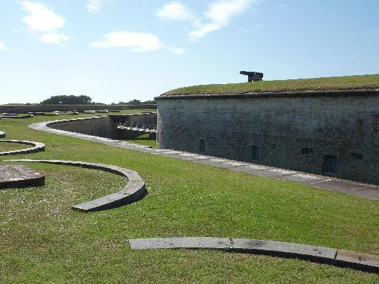 Fort Macon: moat and battlements