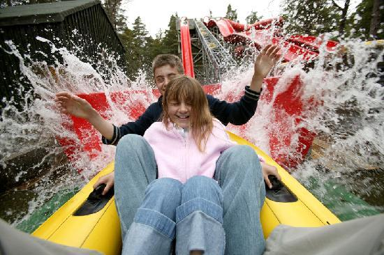 Riding the Wildwatercoaster at Landmark Forest Adventure Park at  Carrbridge nr Aviemore