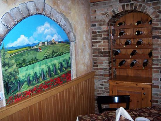 Fratello's Italian Grille : One of the beautiful vault murals