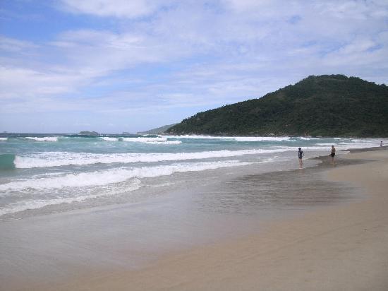 Praia Brava Hotel: La playa, un dia tranquilo y algo nublado