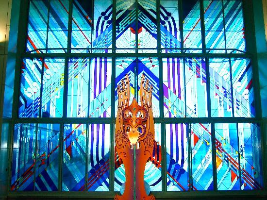 Te Papa Tongarewa (Museum of New Zealand): Stained glass window