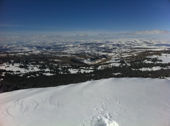 Snowmobile Adventures at Thousand Peaks: The view from the top.