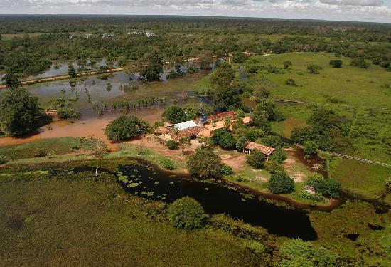 Araras Pantanal Ecolodge: aerial view in the flodded season