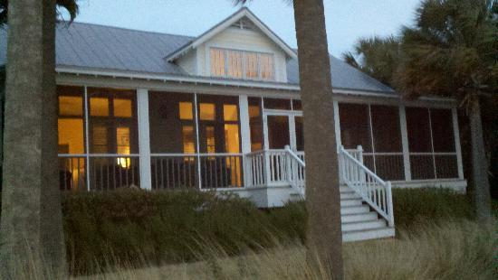 The Cottages on Charleston Harbor: Cottage at night