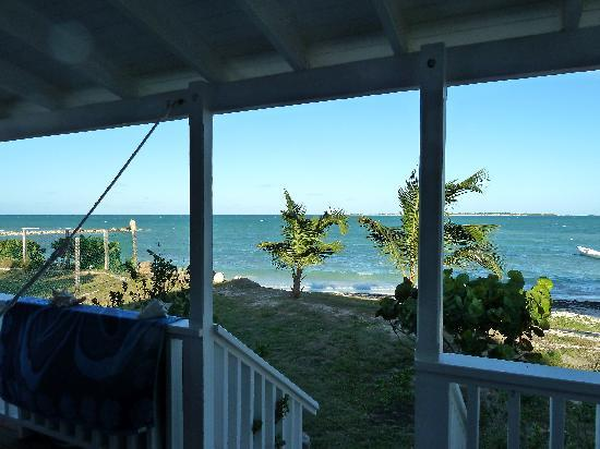 Dutchman's Bay Cottages: View from the porch (center left)