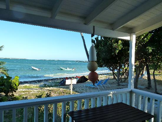 Dutchman's Bay Cottages: View from the porch (center right)