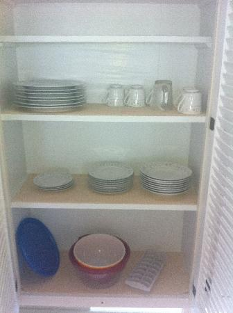 The Surf and Us South Shore Resort: One of two dish cupboards