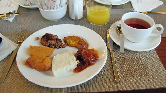 Four Points by Sheraton Lagos: Nigerian breakfast...but there's plenty of normal western choices including superb bakery stuff.