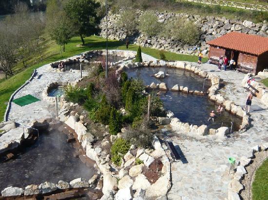Termas de Ourense: thermal springs as seen from the bridge