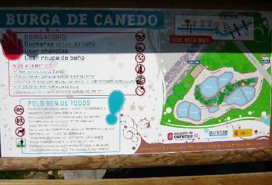 Termas de Ourense: sign at the entrance