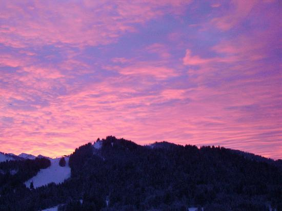 Sunrise from Chalet Le Frene