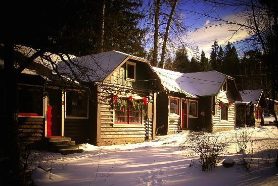 Sleeps Cabins in Winter