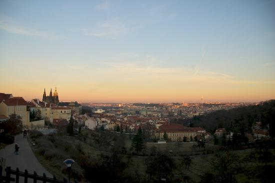 Prague On Segway : The amazing view that Zusana took us to overlooking Prague.