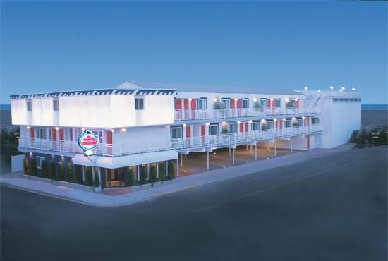 Aa Heart Of Wildwood Motels Building 1 Overlooks Beach And Boardwalk