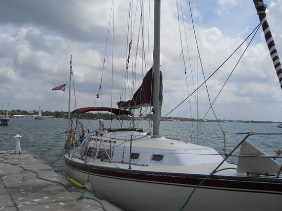 Bradenton Beach, Floryda: Octavio's 34 ft sailboat