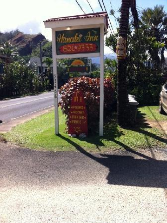 Hanalei Inn: Look for the sign!