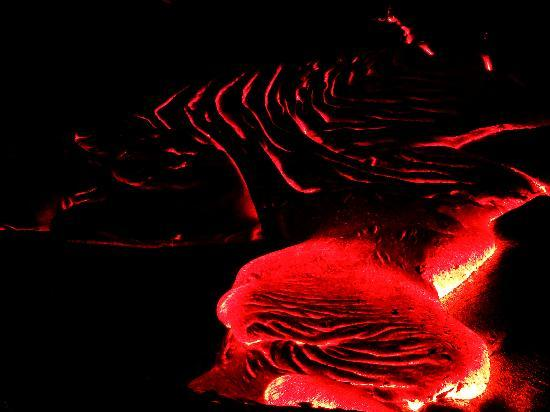 Volcano, HI: Slow-moving lava, like molasses.
