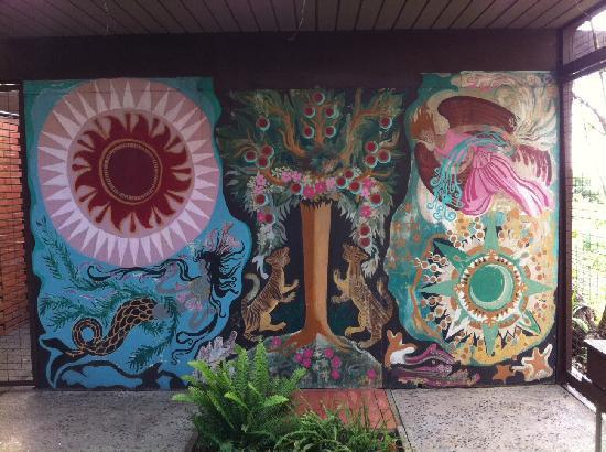 Hortense Miller Garden: Hortense Miller Mural Wall