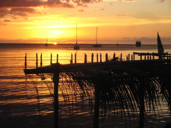 Boqueron, Puerto Rico: sunset from dock