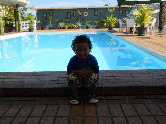 Insel Fehmarn Hotel: Our sons favourite spot beside the pool.