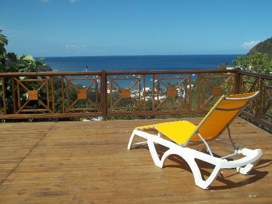 Résidence Les Hauts de Deshaies : Terrasse panoramique de Marguerita