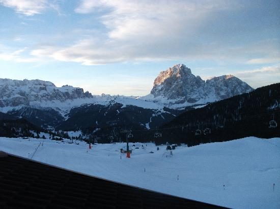 Rifugio Fermeda Hut: View from our room in the evening