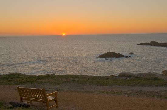 La Coruña, Spagna: El ocaso del sol desde la Torre de Hercules