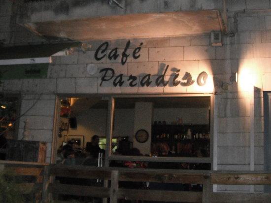Paradiso Cafe Restaurant : Outside of the restaurant