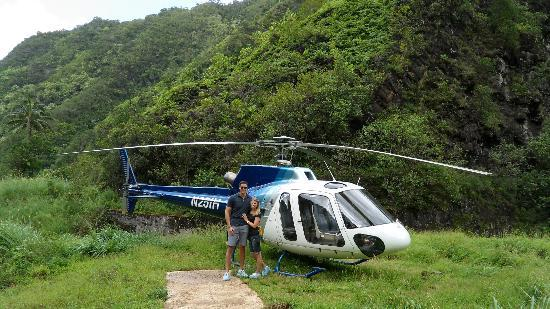 Landing At Jurassic Falls  Picture Of Island Helicopters