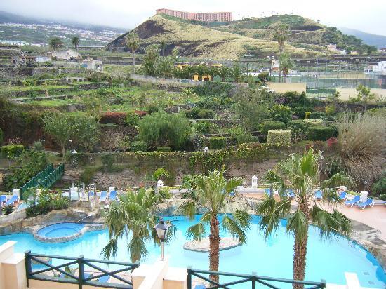 diverhotel Tenerife Spa & Garden: Blick vom Balkon auf den Garten