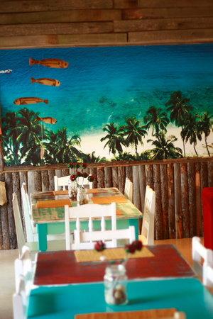 Ozone cafe bar: inside of restaurant