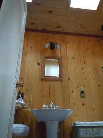 Sunset Inn Yosemite Vacation Cabins: Charming Sugar Pine Cabin - skylight in bathroom