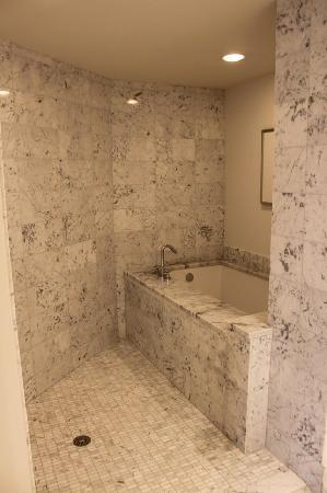 deep tub with shower. Trump International Hotel Waikiki  deep bath tub and open rain shower Picture of