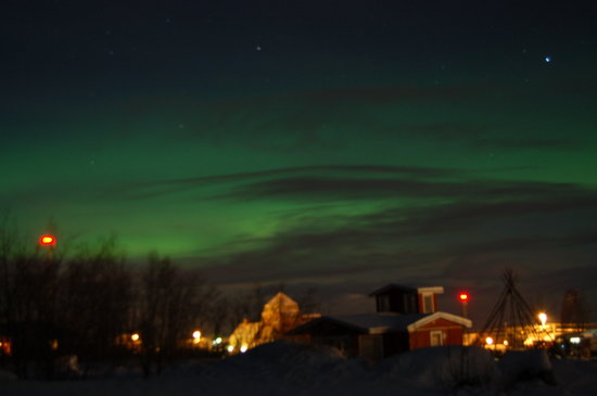 Abisko, Suecia: First glimpse of Northern Lights