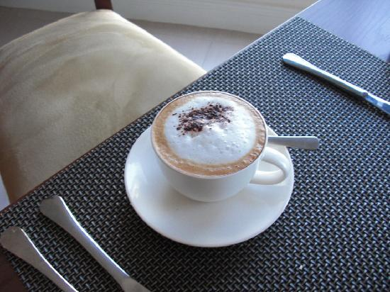 The Sir David Boutique Guest House: Morning Cappuccino