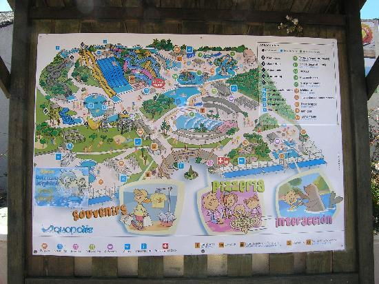 Map Of Park Picture Of Aquopolis Costa Dorada La Pineda