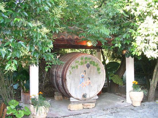Kostas Brother's: Winebarrel at Kostas'brothers tavern-A.Proctor