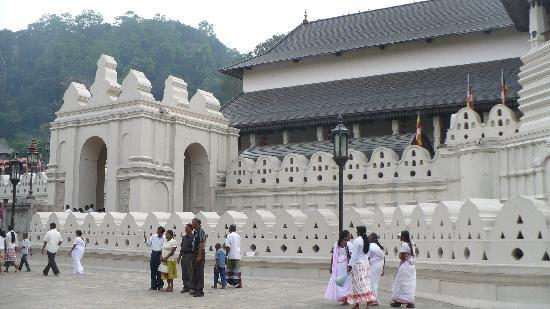 Kandy, Sri Lanka: outside of temple