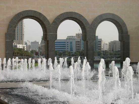 i m pei doha fountains in the courtyard picture of museum of islamic art