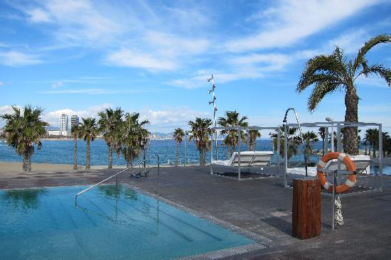 Iconic hotel with a stunning view w barcelona pictures for Swimming pool area