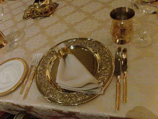 Rambagh Palace: Gold-und Silber im Restaurant