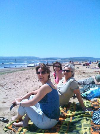 Relaxing on Exmouth beach
