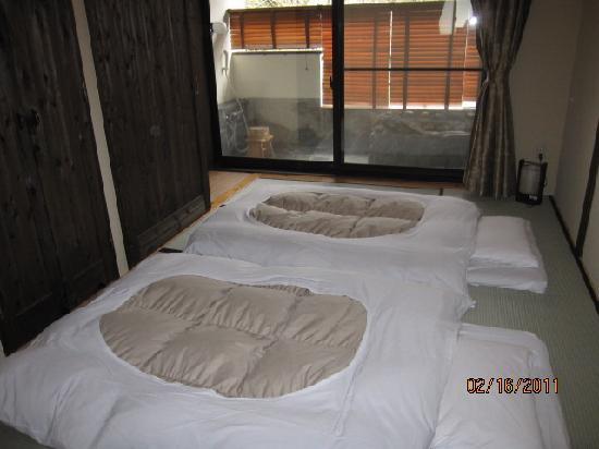 Sengokuhara Shinanoki Ichinoyu: Futon beds..
