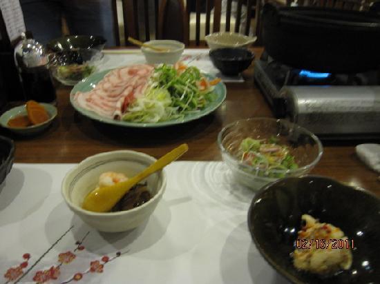 Sengokuhara Shinanoki Ichinoyu: Dinner set